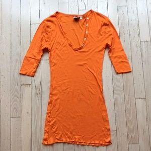 Sharon Segal by Fred Segal Orange Mini Dress M